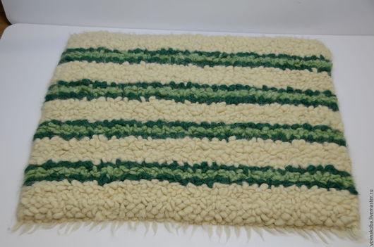Текстиль, ковры ручной работы. Ярмарка Мастеров - ручная работа. Купить Коврик из овечьей шерсти KB036,37m. Handmade. коврик