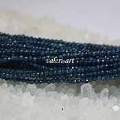 Бусины ручной работы. Ярмарка Мастеров - ручная работа Шпинель бусины мелкие шар синие 2 мм. Handmade.