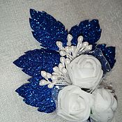 Бутоньерки ручной работы. Ярмарка Мастеров - ручная работа Бутоньерки: Белые розы. Handmade.