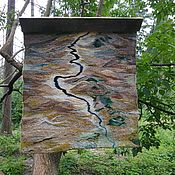 """Гобелен ручной работы. Ярмарка Мастеров - ручная работа Художественный гобелен """" Река"""".. Handmade."""