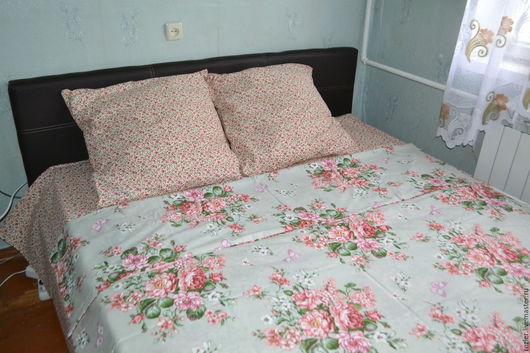 """Текстиль, ковры ручной работы. Ярмарка Мастеров - ручная работа. Купить Постельное белье """"Амели""""   - ткань  в наличии. Handmade. Разноцветный"""
