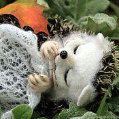 handmade. Livemaster - original item hedgehog Jasenica. Fulled (felted) wool. Handmade.
