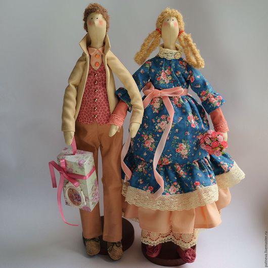 Куклы Тильды ручной работы. Ярмарка Мастеров - ручная работа. Купить Куклы Тильда семейная пара. Handmade. Кукла Тильда