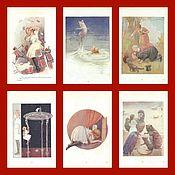 Винтаж ручной работы. Ярмарка Мастеров - ручная работа M.Tarrant 1906г Алиса в стране чудес Гравюры винтаж антиквариат#4. Handmade.