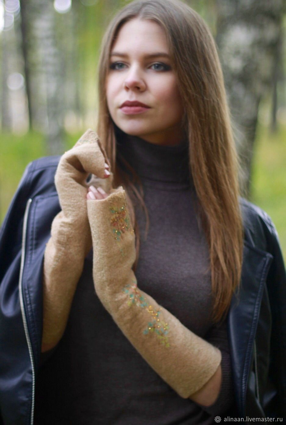 Women's felted mitts 'Sharmel', Mitts, Moscow,  Фото №1