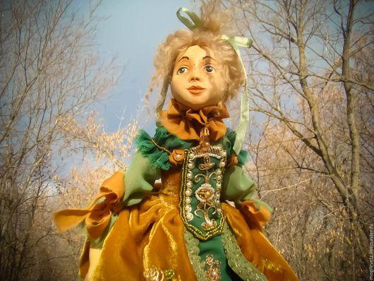 Коллекционные куклы ручной работы. Ярмарка Мастеров - ручная работа. Купить Лиза. Handmade. Зеленый, старинный стиль, шёлк