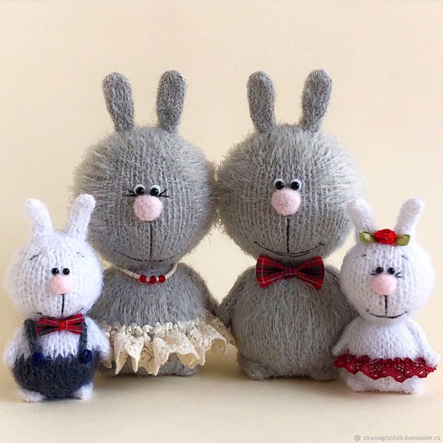 family of hares, Stuffed Toys, Moscow,  Фото №1