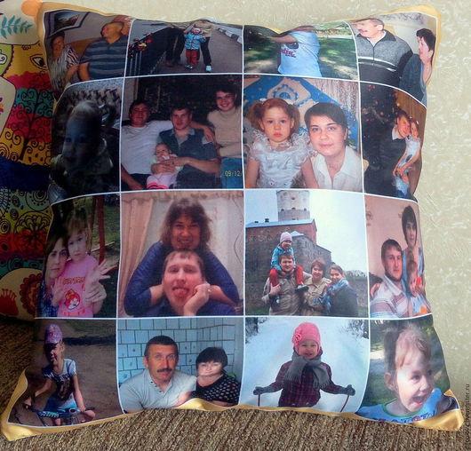 Подарки для мужчин, ручной работы. Ярмарка Мастеров - ручная работа. Купить Подушка с фотографией подарок мужчине подарок мужу на день рождения. Handmade.