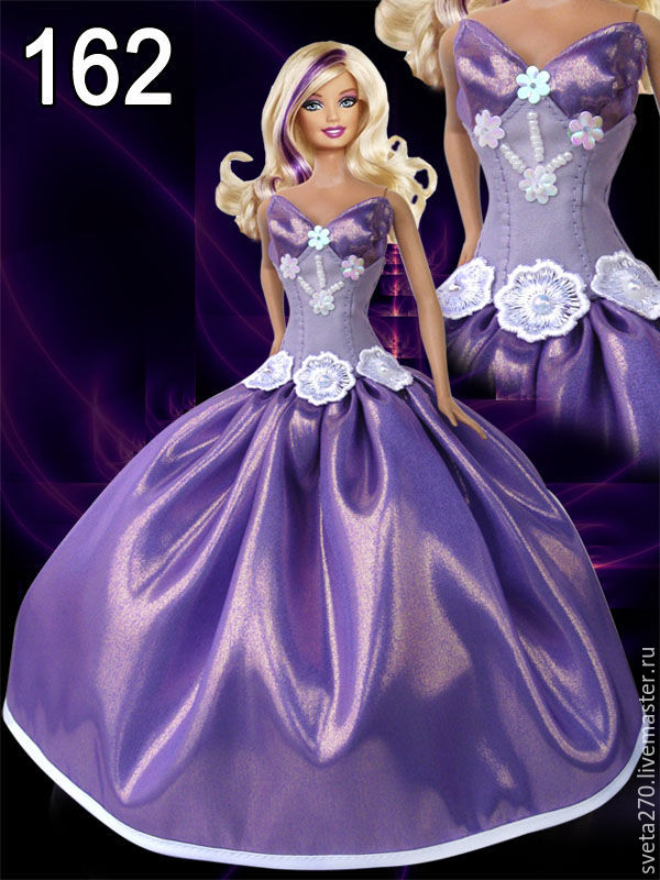 Барби вечерних платьях
