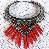 Украшения handmade. Livemaster - original item Necklace: Pocahontas. Necklace in an ethnic style made of beads. Handmade.