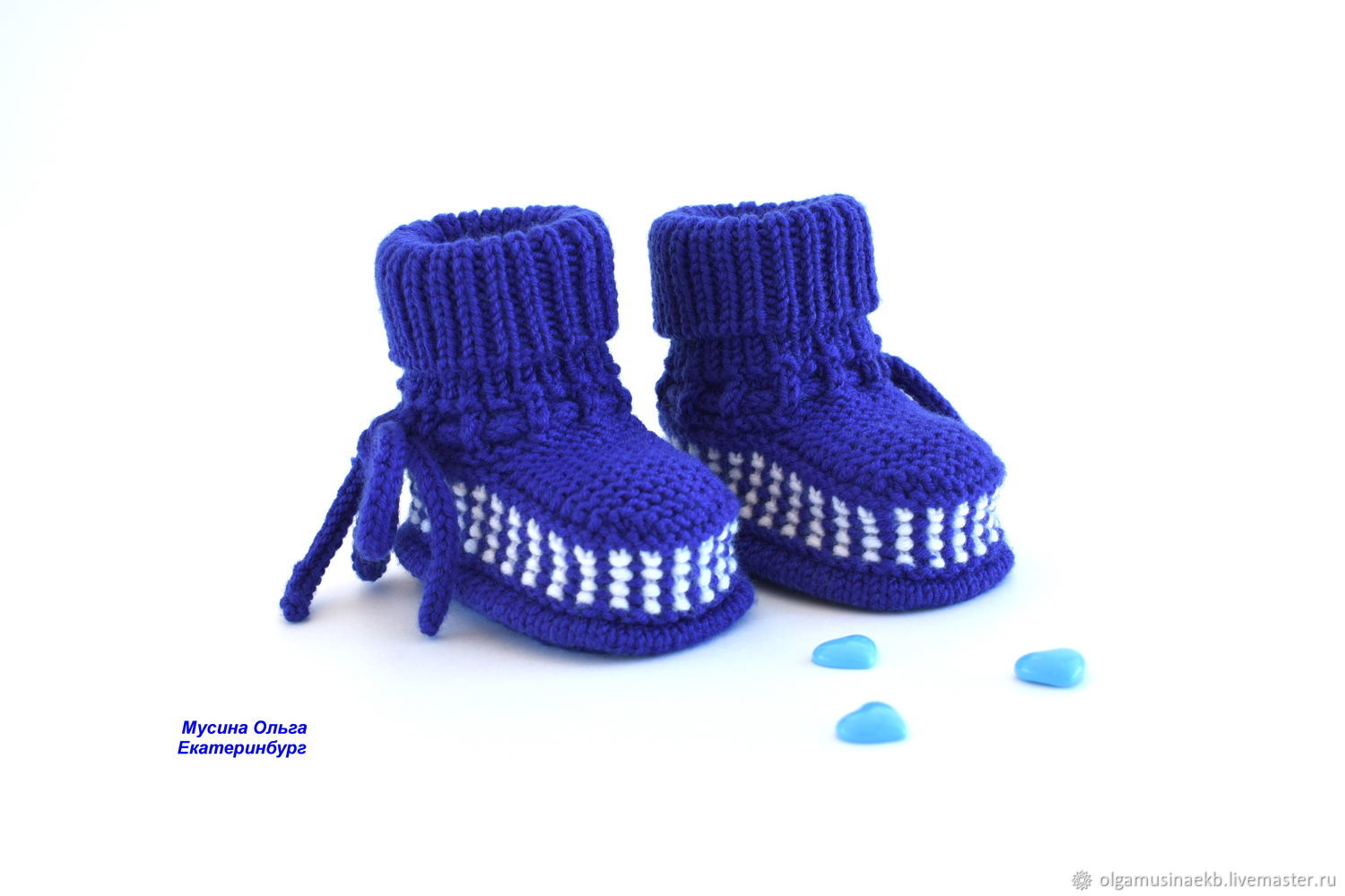 Knitted booties for the baby, Babys bootees, Ekaterinburg,  Фото №1