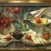 Картины и панно ручной работы. Ярмарка Мастеров - ручная работа Натюрморт с тюльпанами. Handmade.