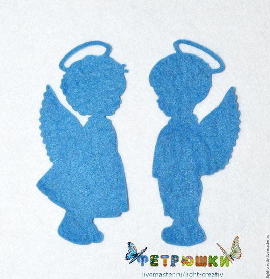 """Валяние ручной работы. Ярмарка Мастеров - ручная работа. Купить Вырубка из фетра """"Два ангелочка"""". Handmade. Вырубка, сердечки"""