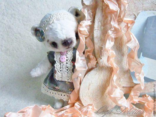 Мишки Тедди ручной работы. Ярмарка Мастеров - ручная работа. Купить Мелани. Handmade. Белый, мишка тедди вискоза