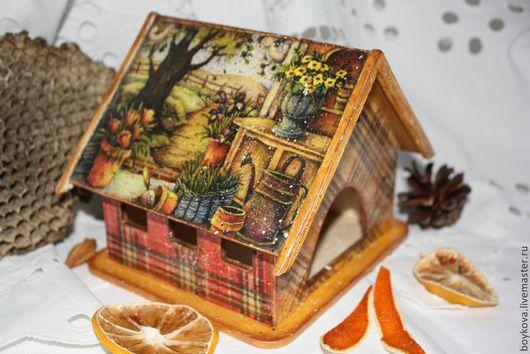 """Кухня ручной работы. Ярмарка Мастеров - ручная работа. Купить Чайный домик """"Кантри"""". Handmade. Домик для чая, чай, Декупаж"""