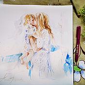 Картины и панно handmade. Livemaster - original item My happiness - watercolor painting. Handmade.