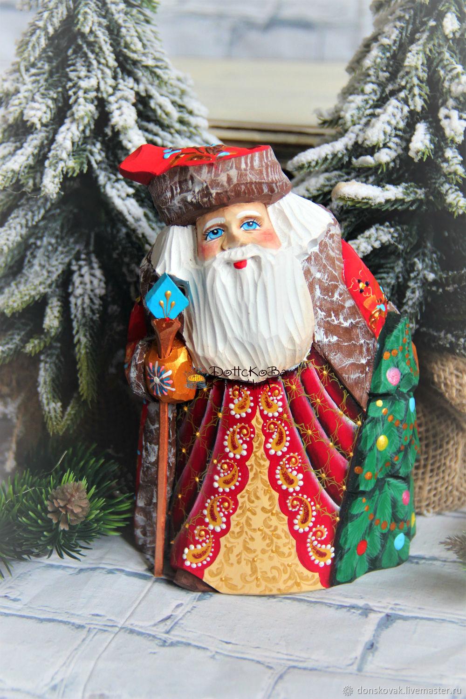 Дед мороз №81 (деревянный резной расписной), Украшения, Москва, Фото №1