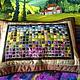 """Текстиль, ковры ручной работы. Ярмарка Мастеров - ручная работа. Купить """"Прованс. Пуантилизм. """" лоскутная подушка. Handmade. Салатовый"""