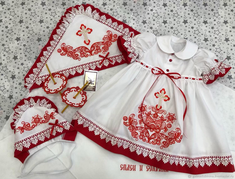 """Комплект для крещения девочки """" Традиции"""", Комплект для крещения, Лермонтов,  Фото №1"""