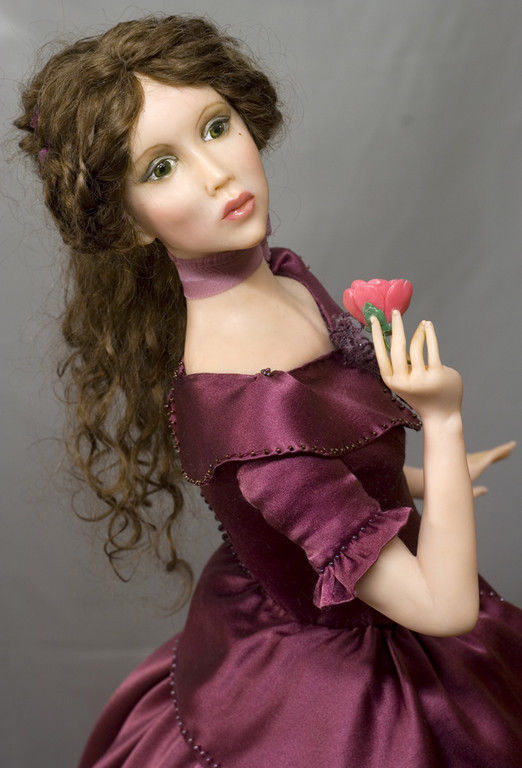 Коллекционные куклы ручной работы. Ярмарка Мастеров - ручная работа. Купить Виолетта (Куртизанка). Handmade. Бордовый, Цернит