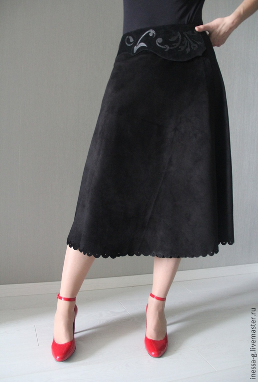 Skirt in suede black, Skirts, Moscow,  Фото №1