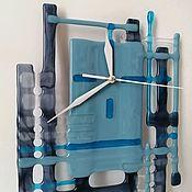Для дома и интерьера handmade. Livemaster - original item Watch Sea of glass. Fusing. Handmade.