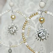 Украшения handmade. Livemaster - original item White ring earrings with tassels