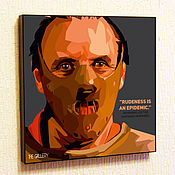 Картины и панно handmade. Livemaster - original item Picture Hannibal Lecter Pop Art, the silence of the lambs. Handmade.