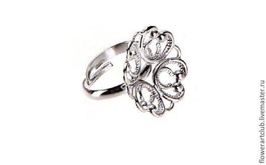 Другие виды рукоделия ручной работы. Ярмарка Мастеров - ручная работа. Купить Основа под кольцо - серебро. Handmade.
