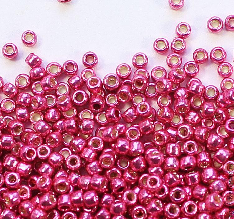 Круглый 15/0 TOHO PF 563 Hot Pink Galvanized (PF) японский бисер, Бисер, Соликамск,  Фото №1
