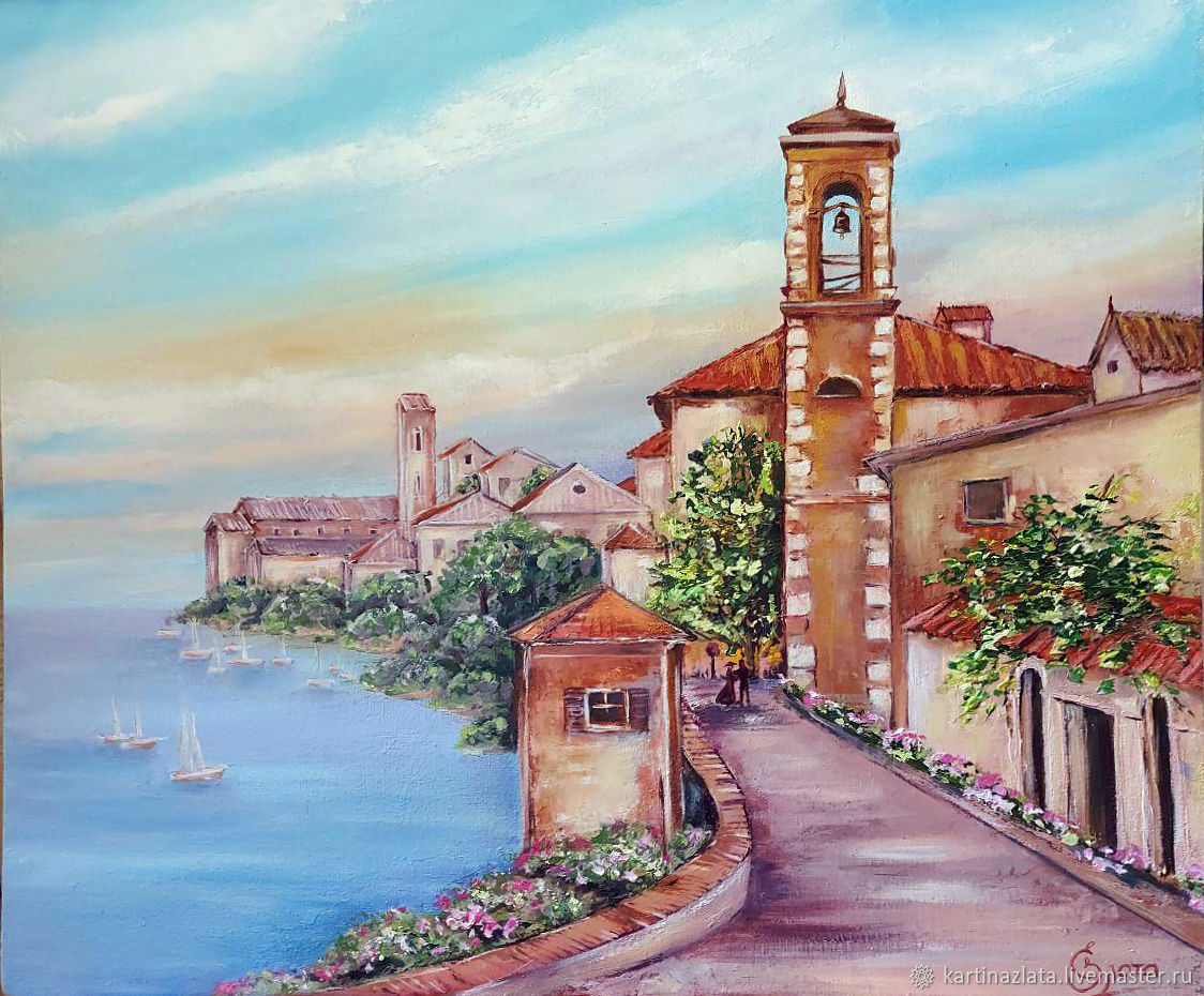 Italy, old streets oil painting, Pictures, Azov,  Фото №1
