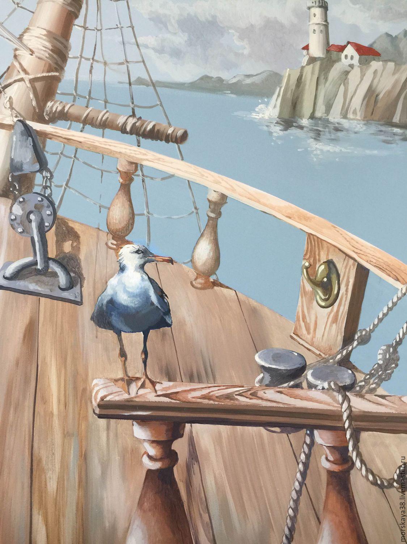 Nursery handmade. Livemaster - handmade. Buy 'Deck' Painted the walls in the nursery for Vlad).Ship