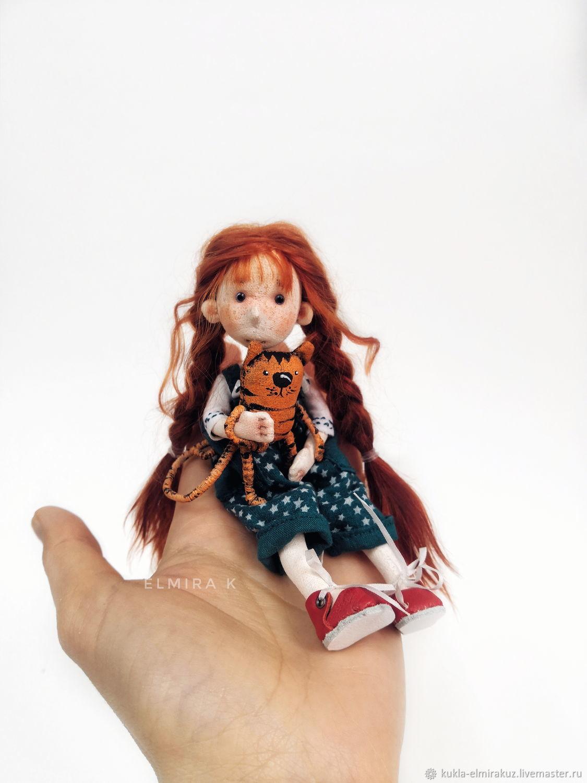 Маленькая текстильная куколка Эльфа, Шарнирная кукла, Иркутск,  Фото №1