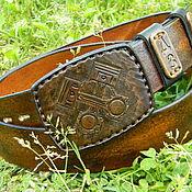 handmade. Livemaster - original item Men`s belt,leather,handmade,for jeans.. Handmade.