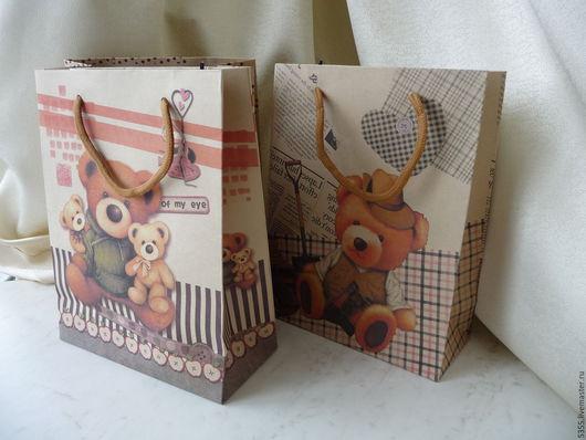 Крафт-пакет. Пакет-сумочка из очень плотной  крафт-бумаги с рисунком и ручками. Подарочный пакет. Пакет для подарка. Крафт пакет с ручками.Палочка-выручалочка