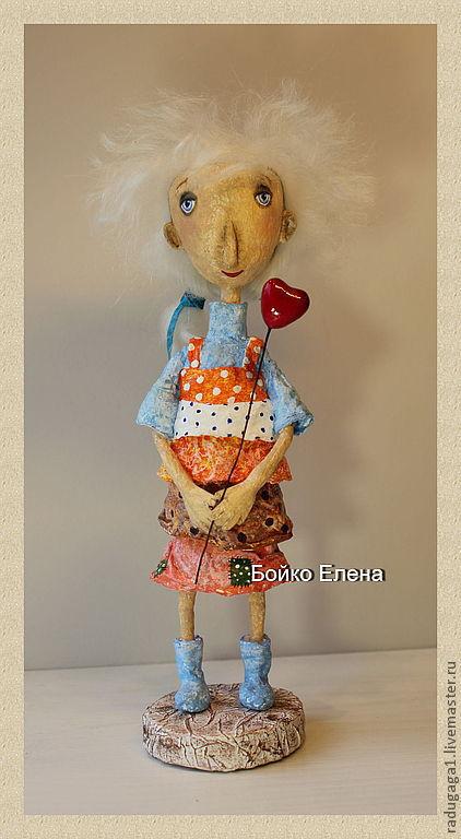 Коллекционные куклы ручной работы. Ярмарка Мастеров - ручная работа. Купить Одуванчик. Handmade. Авторская ручная работа, папье-маше