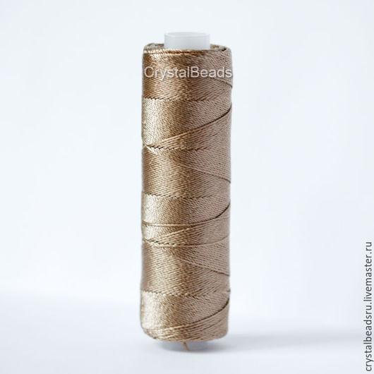 Лавсановые нитки 170л, нитки кофейные, нитки кофе с молоком, нитки светло-коричневые. Нитки для для фриволите, нитки для анкарса. Нитки для пошива сумок и кожгалантереи.