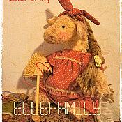 Куклы и игрушки ручной работы. Ярмарка Мастеров - ручная работа Лошадка Фросенька (есть выкройка)). Handmade.