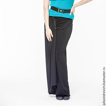Одежда ручной работы. Ярмарка Мастеров - ручная работа АГ_018 Юбка черная длинная узкая с запАхом. Handmade.