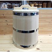 Посуда handmade. Livemaster - original item The wooden tub made of cedar 40 litres stainless steel. Handmade.