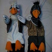 Куклы и игрушки handmade. Livemaster - original item Lived at the Granny two cheerful goose. glove puppets.. Handmade.