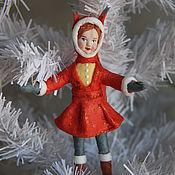Куклы и игрушки handmade. Livemaster - original item Author`s fur-tree toy from cotton wool,