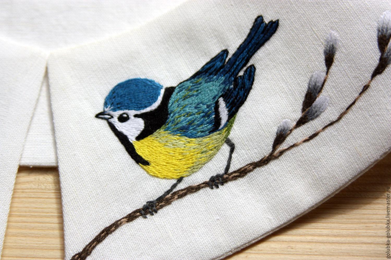 Картинка для вышивки синички