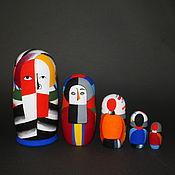 Русский стиль handmade. Livemaster - original item Matryoshka Malevich (simplified version). Handmade.