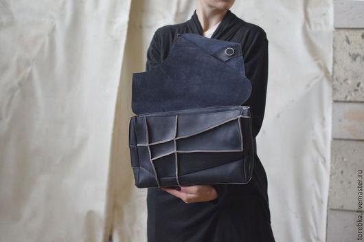 Женские сумки ручной работы. Ярмарка Мастеров - ручная работа. Купить Клатч с клапаном. Handmade. Серый, геометрия, сумка