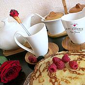 """Посуда ручной работы. Ярмарка Мастеров - ручная работа Вкусные ложечки """"Мороженое рожок"""". Handmade."""