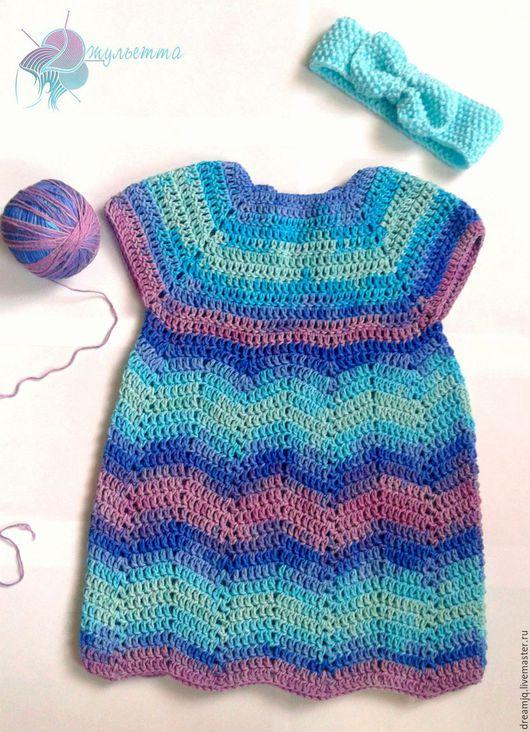 Одежда для девочек, ручной работы. Ярмарка Мастеров - ручная работа. Купить Платье для девочки. Handmade. Голубой, платье для девочки