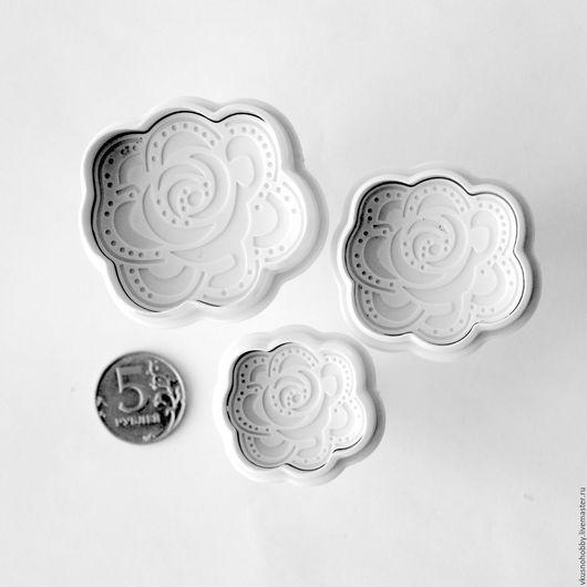 Другие виды рукоделия ручной работы. Ярмарка Мастеров - ручная работа. Купить Розы кружево (набор 3 шт.). Плунжер, формочка. Handmade.