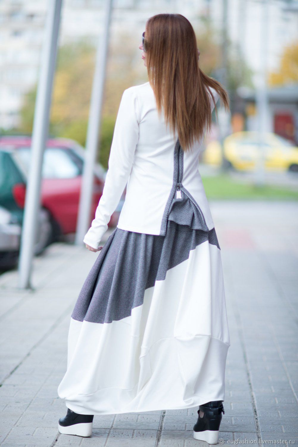 Stylish, cotton skirt in two colors - SK0619PM, Skirts, Sofia,  Фото №1