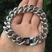 Украшения handmade. Livemaster - original item Classic men`s bracelet from jewelry steel. Handmade.